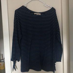 Loft blue stripped shirt